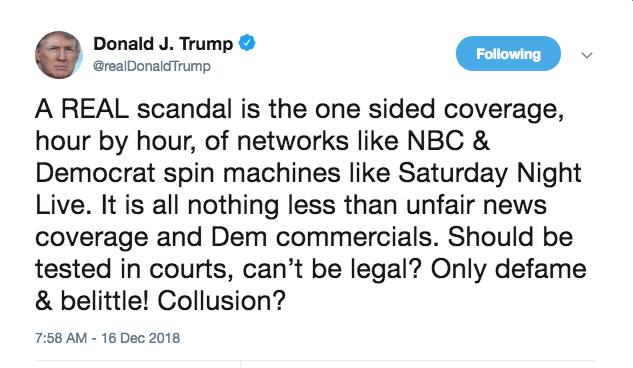 Trump tweet SNL