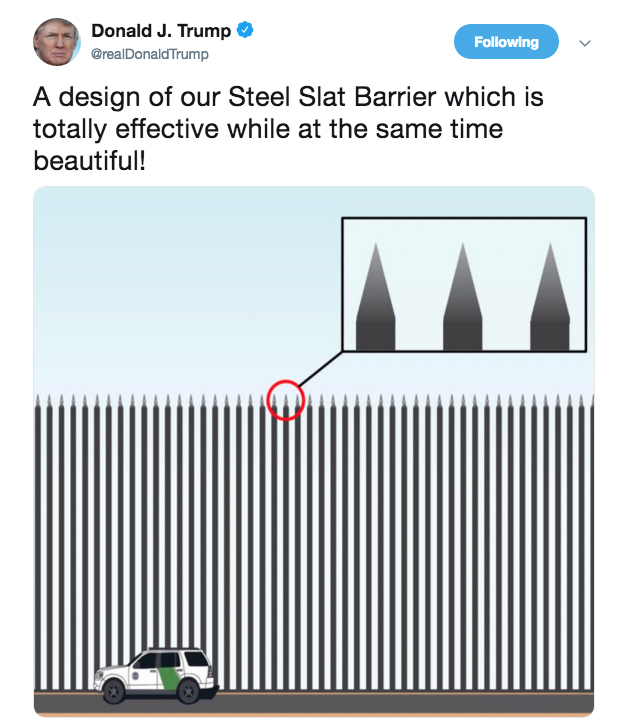 Trump wall design