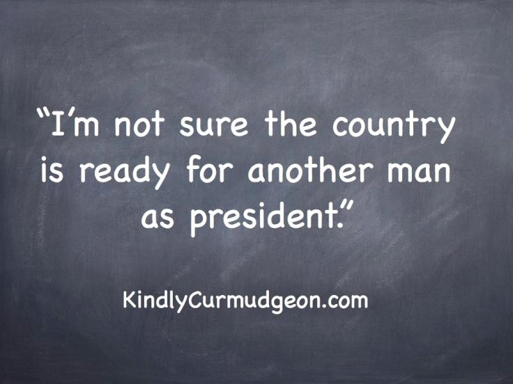 Man as president?.001